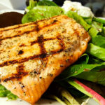 Grilled Salmon, Anemos Greek Cuisine Manalapan, NJ