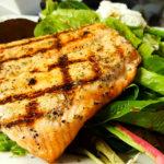 Grilled Salmon, Anemos Greek Cuisine Manalapan, NJ
