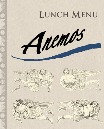 Anemos Cuisine Lunch Menu